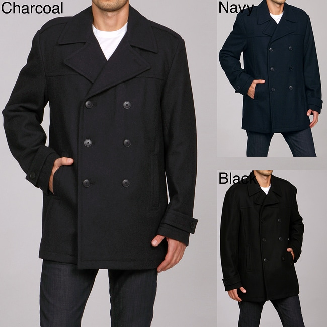 640166bd35bb Shop Calvin Klein Men's Wool Blend Peacoat - Free Shipping Today -  Overstock - 4757466