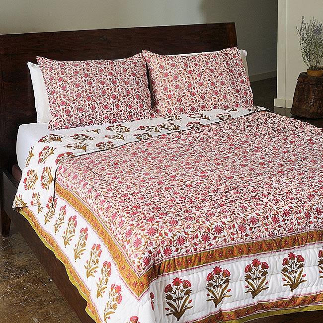 Andhera Patta Queen Size 3-piece Comforter Set (India)