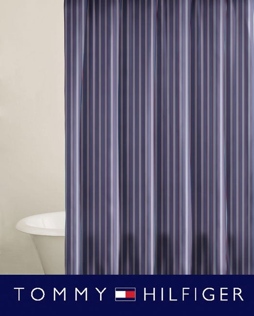 Tommy Hilfiger Christopher Stripe Shower Curtain