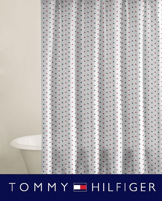 Tommy Hilfiger Union Stars Shower Curtain
