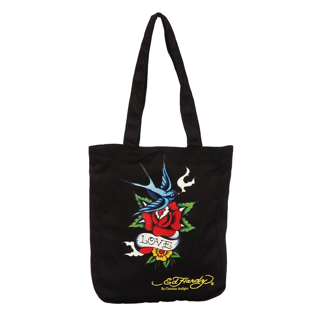d34c365e9e30 Shop Ed Hardy by Christian Audigier Ness Bird Flower Tote Bag - Free  Shipping On Orders Over  45 - Overstock - 4761251