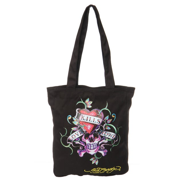 a03cfac12d5a Shop Ed Hardy  Ness  Love Kills Slowly Tote Bag - Free Shipping On Orders  Over  45 - Overstock - 4761252