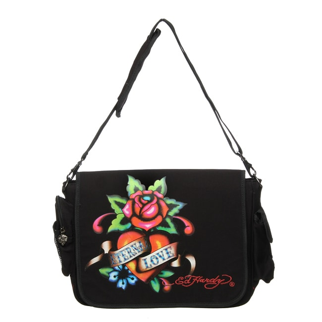 f8b91778a3 Shop Ed Hardy Leo Eternal Love Messenger Bag - Free Shipping On Orders Over   45 - Overstock.com - 4762328