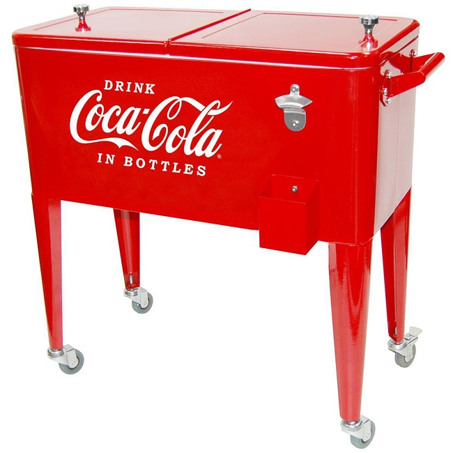 Coca-Cola Rolling Red Ice Box Cooler
