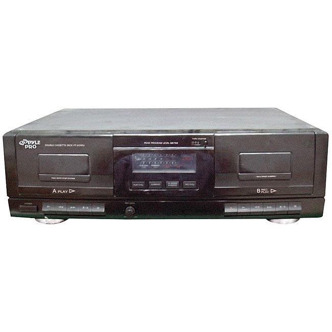 Pyle Dual Cassette Deck USB to MP3 Converter #PT659DU