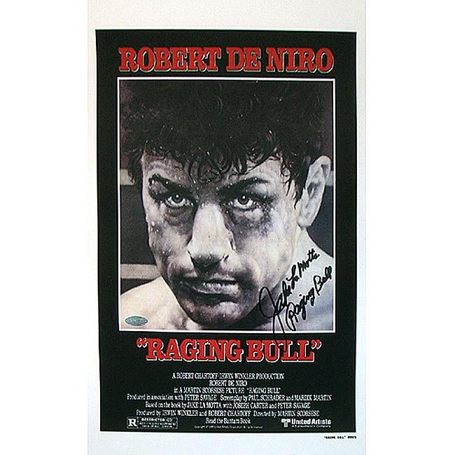 Jake LaMotta Raging Bull Autographed Movie Poster