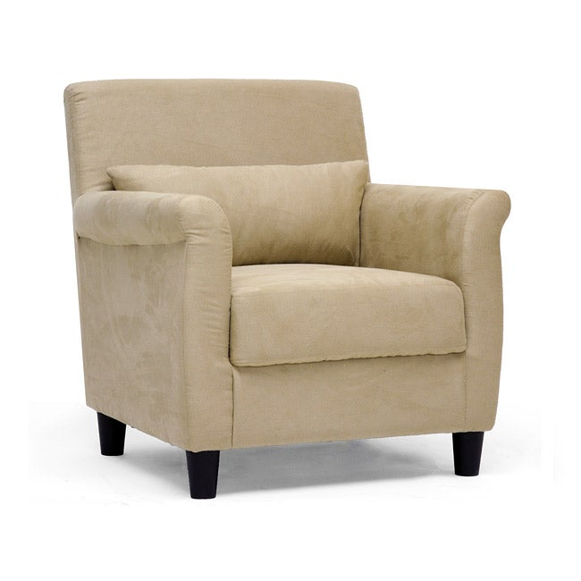 Marquis tan microfiber club chair free shipping today 12667900 for Microfiber accent chairs living room
