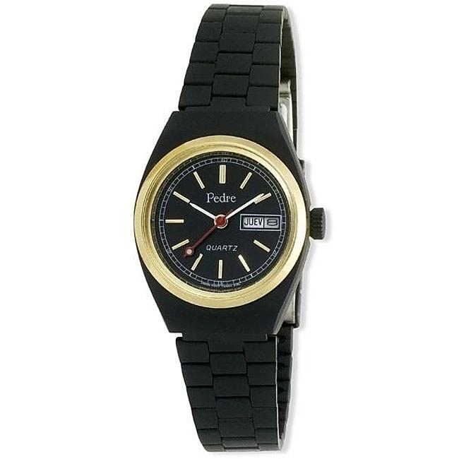 Pedre Women's Black Anodized Bracelet Watch