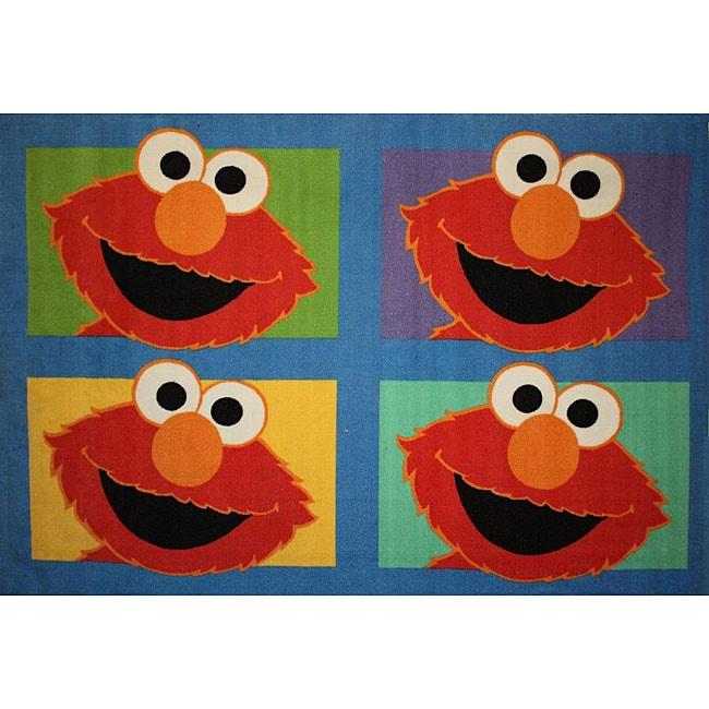 Sesame Street Elmo Rug (4'3 x 6'6)