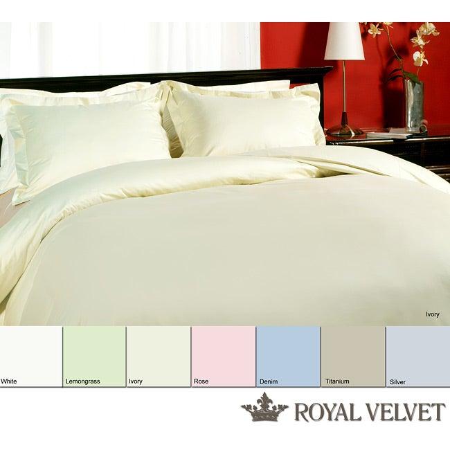 Shop Royal Velvet 315 Thread Count King Size Sateen Duvet