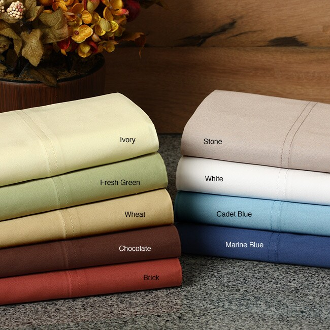North Home 400 Thread Count Cotton Sateen Sheet Set