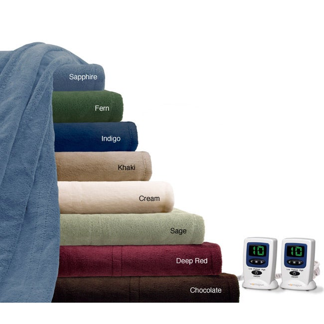 Warmspun Cozy Plush King-size Electric Blanket - Free Shipping ...