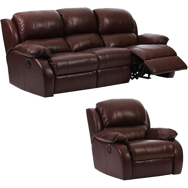 Ashley Furniture Labor Day Sale Ashley 2-piece Brown Leather Reclining Sofa and Chair Set ...