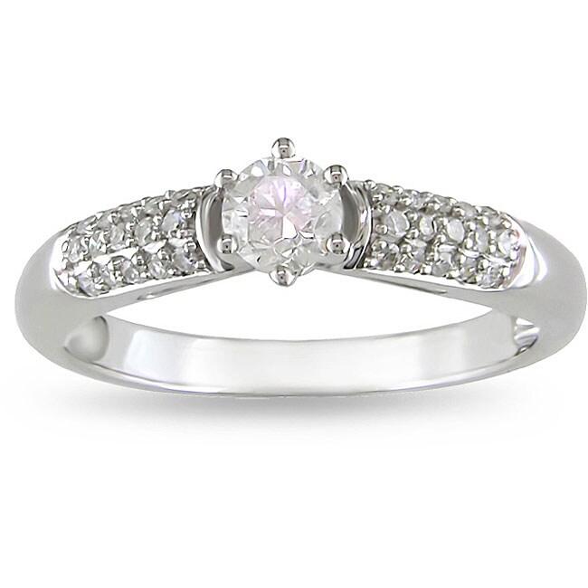 Miadora 14k Gold 1/2ct TDW Diamond Engagement Ring (H-I, I1-I2)