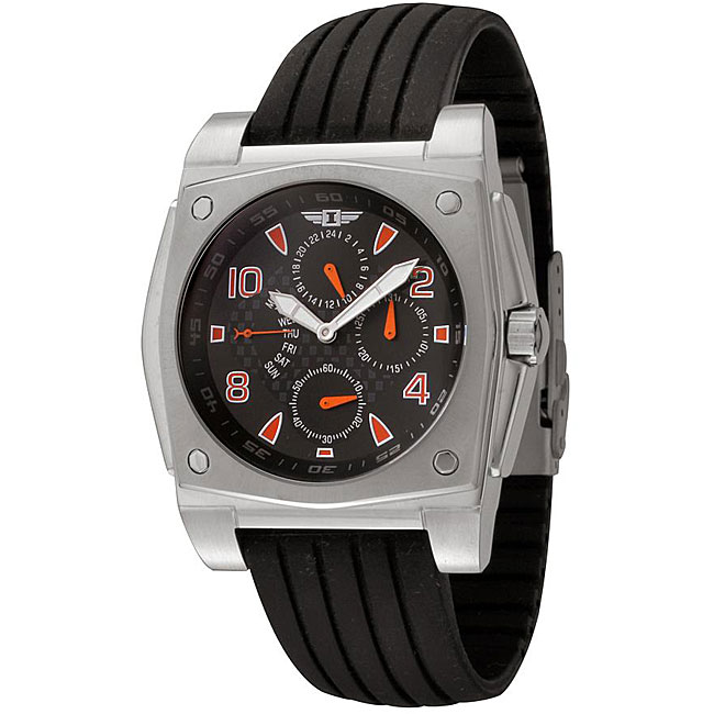 I by Invicta Men's Black Rubber and Stainless Steel Watch