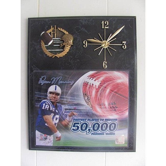 NFL-licensed Peyton Manning Quartz Clock