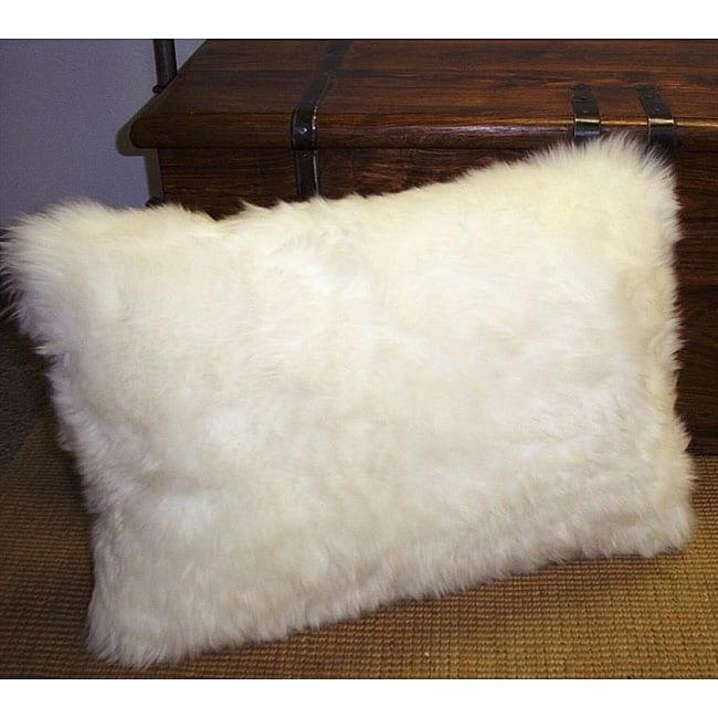 Bowron Natural White Sheepskin Pillows (Set of 2)