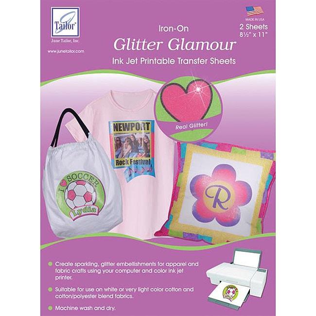 Glitter Glamor 8.5x11 Inkjet Transfer Sheets
