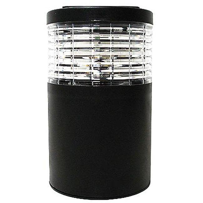 Solar Powered Cylinder LED Fence Post Lights (Set of 6)
