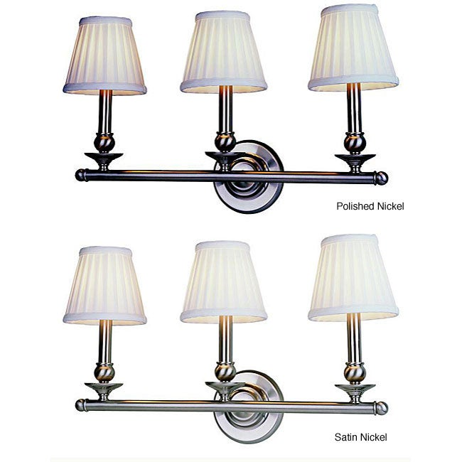 Traditional Classic 3-light Wall Sconce