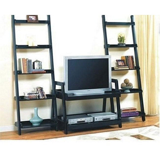 Leaning Ladder Book Shelf Entertainment Center