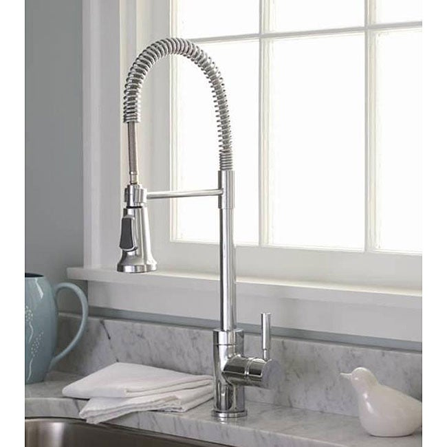 exceptional Industrial Kitchen Faucet #3: DeNovo Premier Commercial-style Chrome Pullout Kitchen Faucet