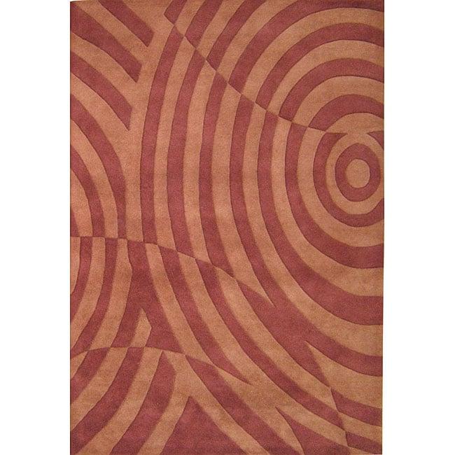 Alliyah Handmade Rust New Zeladn Blend Wool Rug (5' x 8')