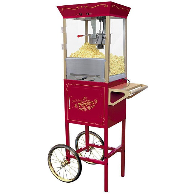 Nostalgia Electrics Old Fashioned Movie Time Popcorn Cart ...