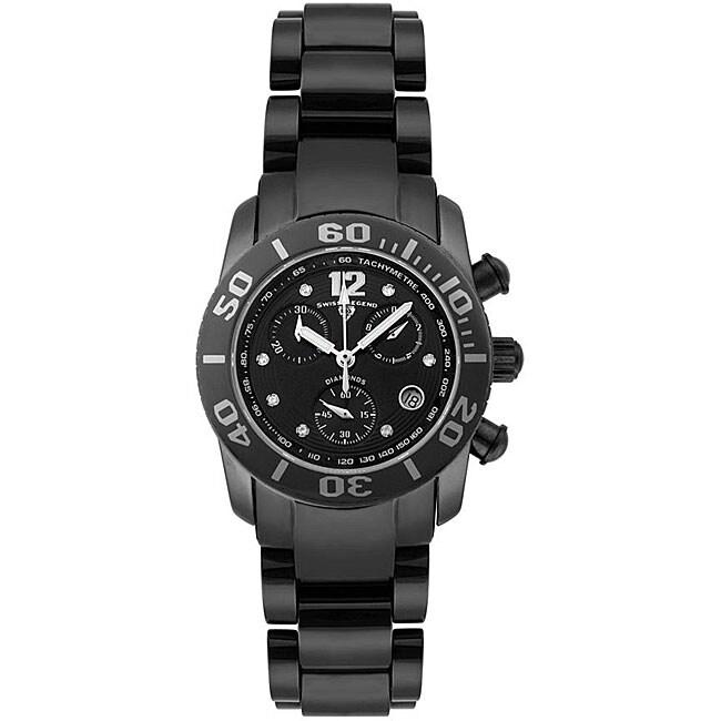 Swiss Legend Women's Commander Black Ceramic Watch
