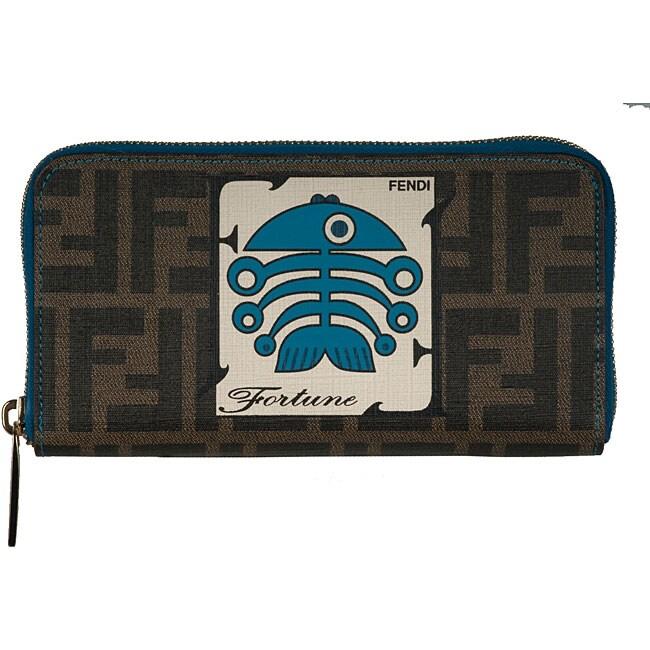 b200d9e2 Fendi 'Fortune Spalmati Fish Zucca' Continental Wallet