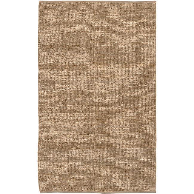 Hand-woven Chapra Bleached Jute Rug (3'6 x 5'6)