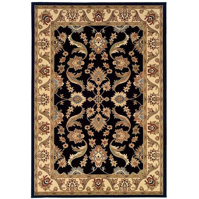 Adana Black/ Cream Rug (7'9 x 9'9)