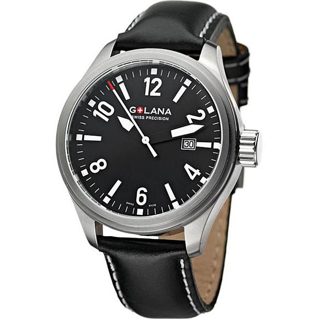 Golana Swiss Men's 'Terra Pro 100' Black Dial Watch