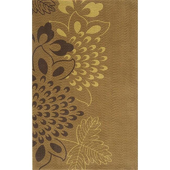 Nolita Light Brown New Zealand Wool Rug (5' x 8')