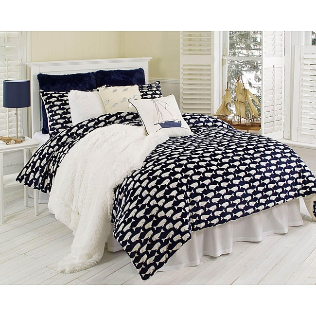 Wally Whale Microluxe 2 Piece Twin Size Comforter Set