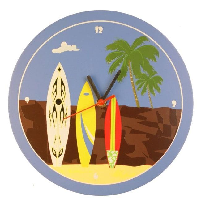 Surfing 10-inch Round Wall Clock