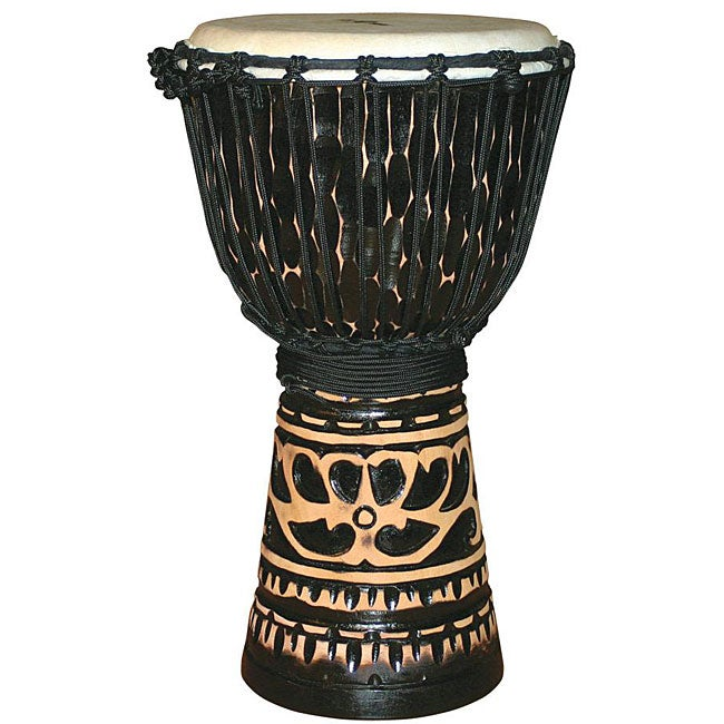 Deep Carve Antique Chocolate Djembe Drum (Indonesia)
