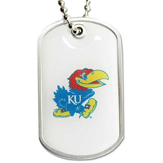 Kansas Jayhawks Charm-chain Dog Tag Necklace