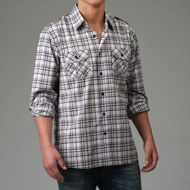No Retreat Men's Plaid Woven Shirt