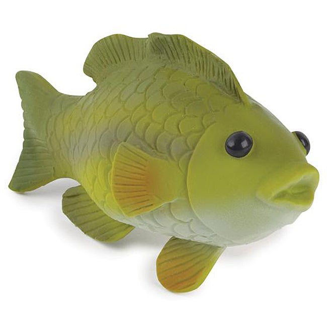 Largemouth bass freshwater fish squeaker dog toys free for Rubber fish toy