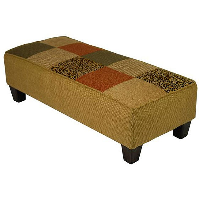 Patchwork Earth Cocktail Ottoman/ Bench