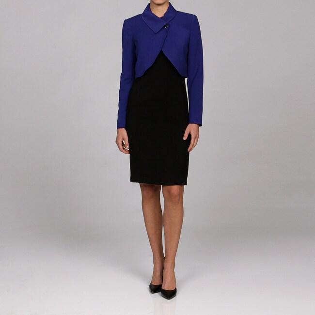 Shop Calvin Klein Women S 2 Piece Bolero Jacket Over Dress Suit