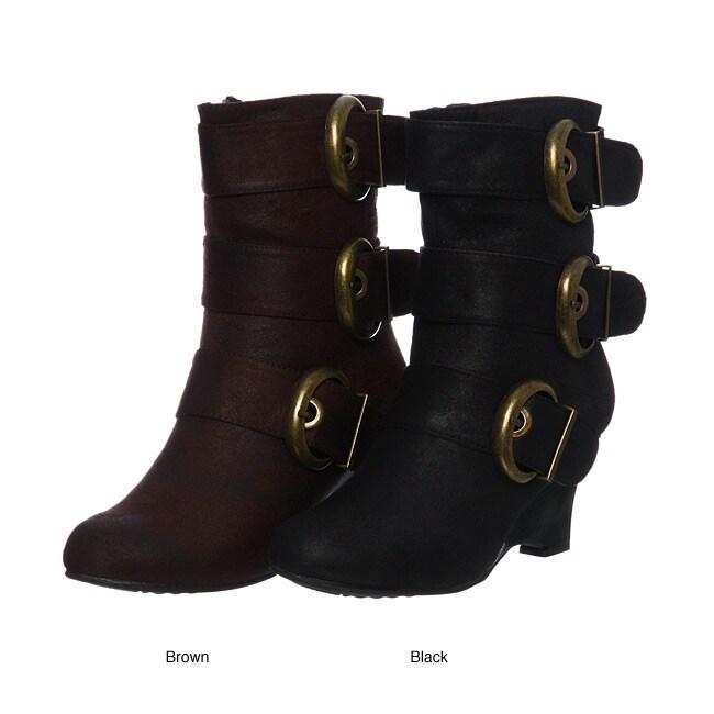 Bucco Women's '17-113' Buckle Boots FINAL SALE