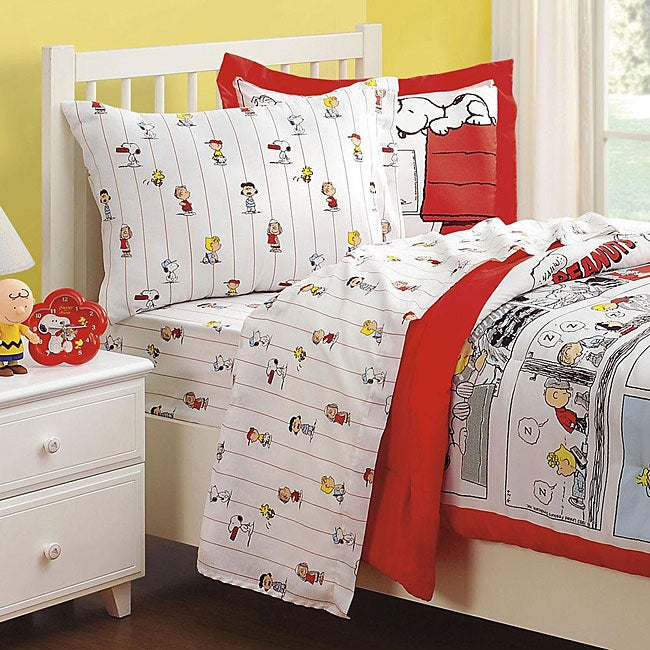 Peanuts Comic Cotton 132 Thread Count Twin Sheet Set