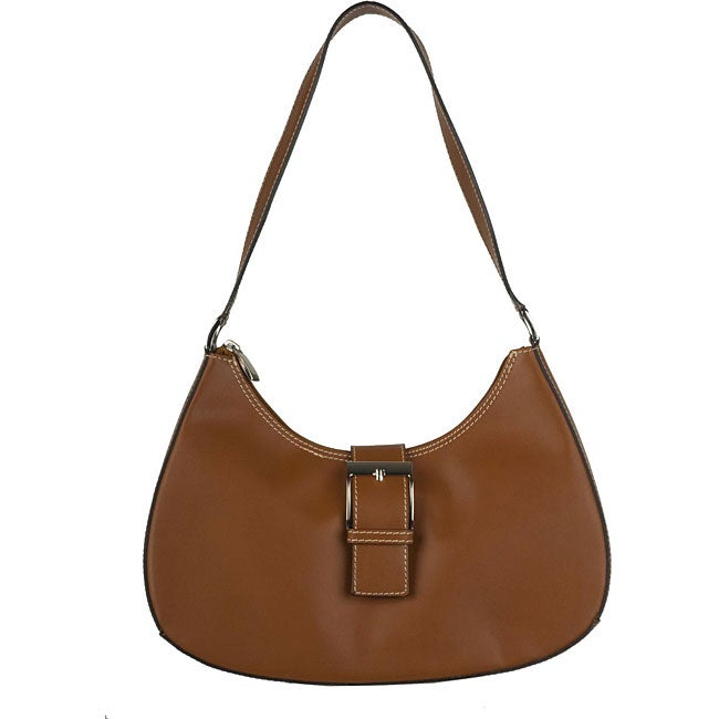Made in Italy Cristian Leather Brown Hobo