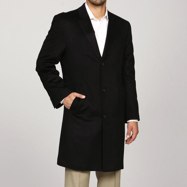 Kenneth Cole New York Men's Black Cashmere Coat FINAL SALE - Free ...