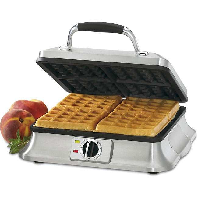 Cuisinart WAF-4B 4-slice Brushed Stainless Steel Belgian Waffle Iron