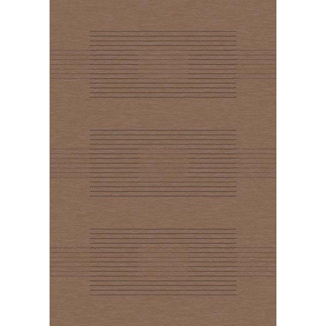 Velvet Brown Stripe Rug (3'11 x 5'7)