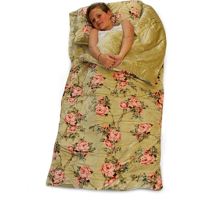Classic Vintage Floral Microluxe Sleeping Bag Free