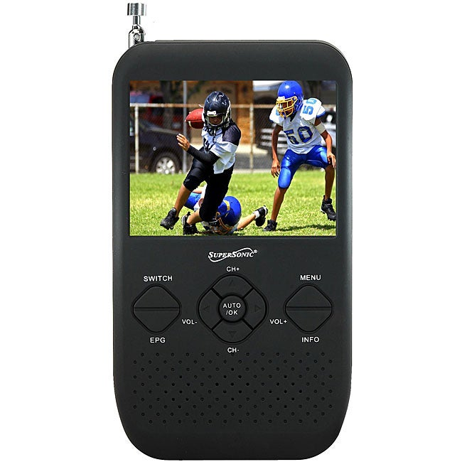 Supersonic Portable 3.5 inch LCD TV with Built-in Digital Tuner and FM Radio